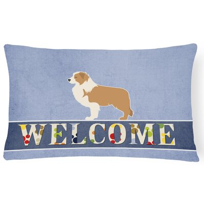 Harpole Border Collie Welcome Lumbar Pillow