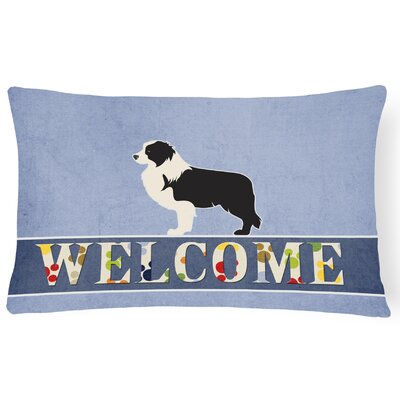 Dorchester Border Collie Welcome Lumbar Pillow