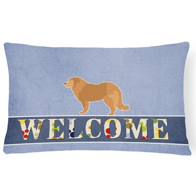 Dowdell Caucasian Shepherd Dog Welcome Lumbar Pillow