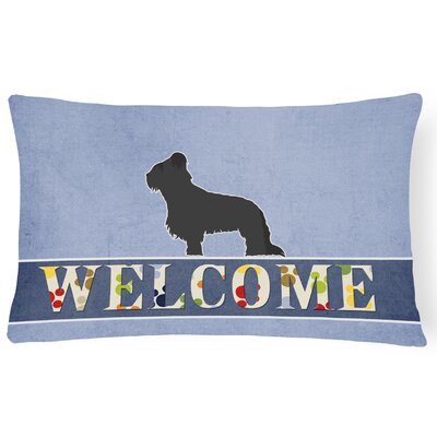 Dowling Briard Welcome Lumbar Pillow