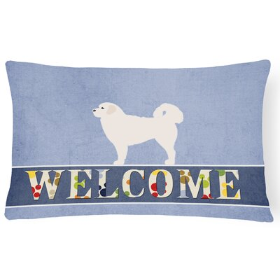Draper Polish Tatra Sheepdog Welcome Lumbar Pillow