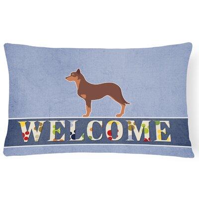 Driskill Australian Kelpie Dog Welcome Lumbar Pillow
