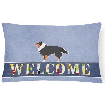 Drysdale Sheltie/Shetland Sheepdog Welcome Lumbar Pillow