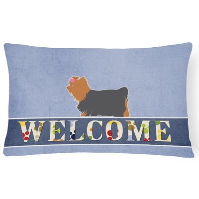 Duffield Yorkshire Terrier Yorkie Welcome Lumbar Pillow