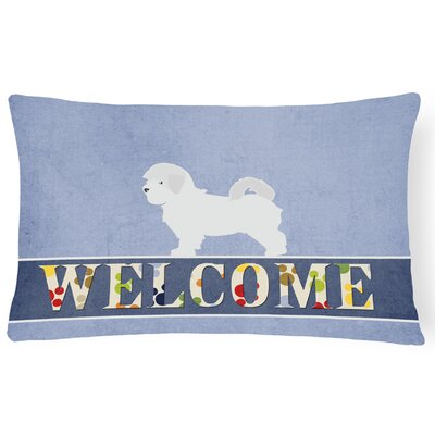 Duggan Maltese Welcome Lumbar Pillow