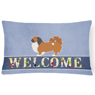 Dunigan Pekingese Welcome Lumbar Pillow
