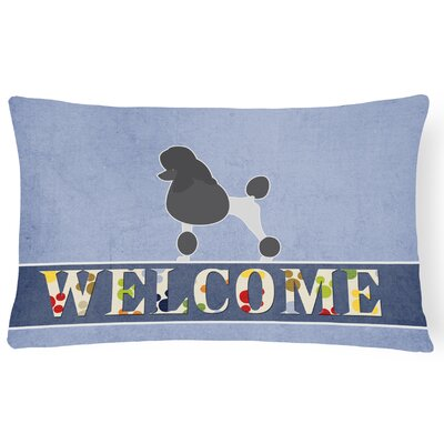 Dunkley Poodle Welcome Lumbar Pillow