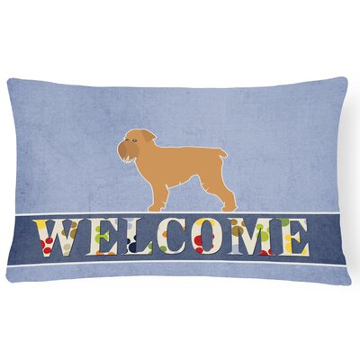 Dunning Brussels Griffon Welcome Lumbar Pillow