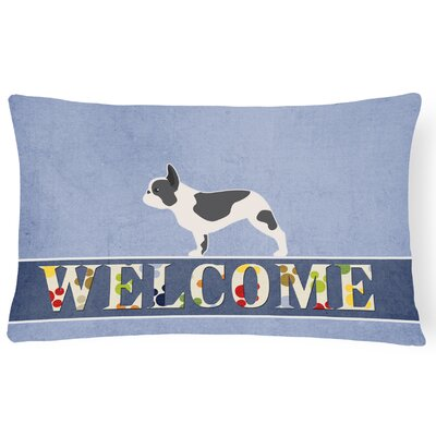 Dunston French Bulldog Welcome Lumbar Pillow