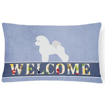 Durkin Bichon Frise Welcome Lumbar Pillow