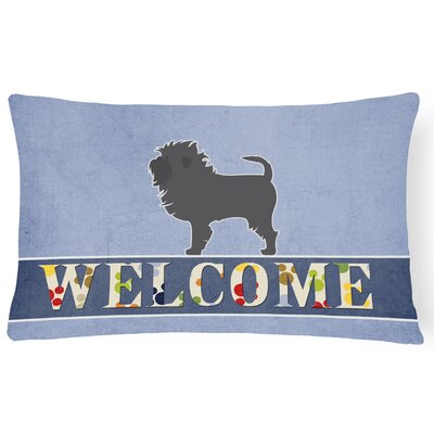 Eagarville Affenpinscher Welcome Lumbar Pillow