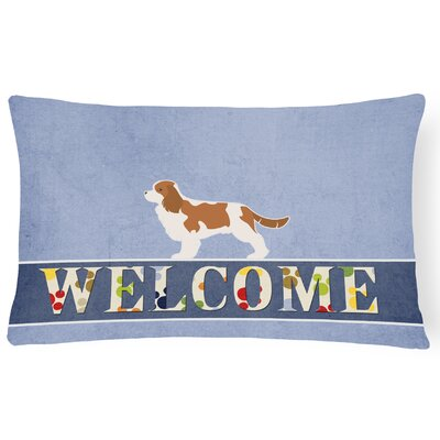 Eakins Cavalier King Charles Spaniel Welcome Lumbar Pillow