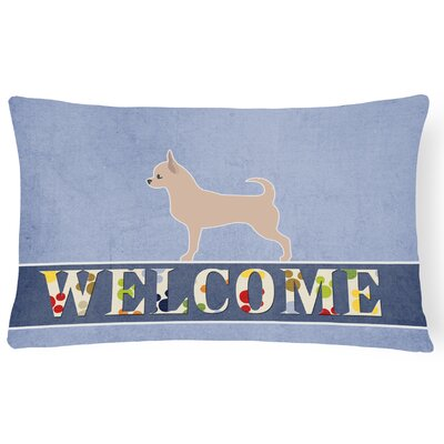Earles Chihuahua Welcome Lumbar Pillow