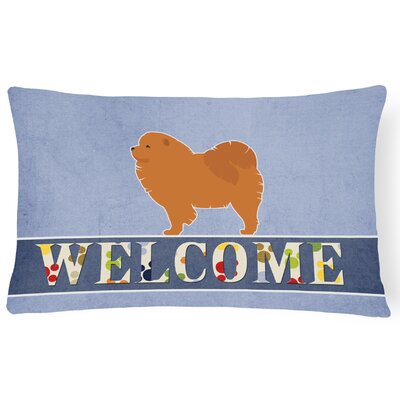 Earlville Chow Chow Welcome Lumbar Pillow
