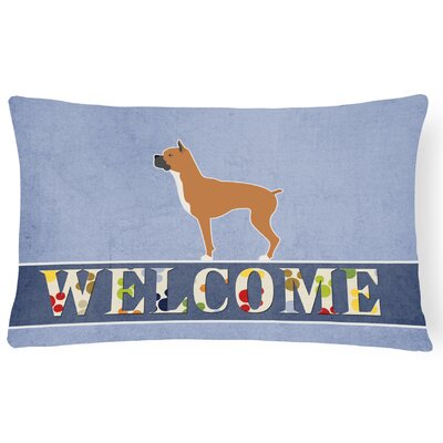 Easterling Boxer Welcome Lumbar Pillow