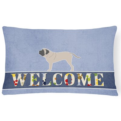 Eckhardt English Mastiff Welcome Lumbar Pillow