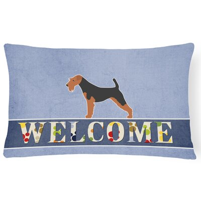 Eddyville Airedale Terrier Welcome Lumbar Pillow