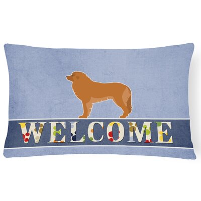 Edgington Leonberger Welcome Lumbar Pillow
