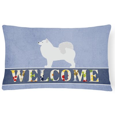 Edinburg Samoyed Welcome Lumbar Pillow