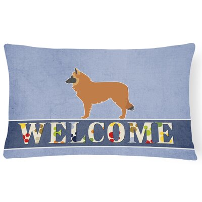 Edmonson Belgian Shepherd Welcome Lumbar Pillow
