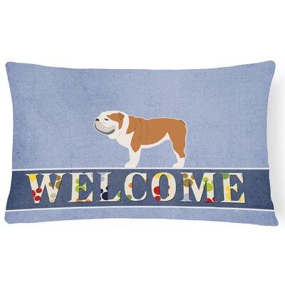 Edwardsville English Bulldog Welcome Lumbar Pillow