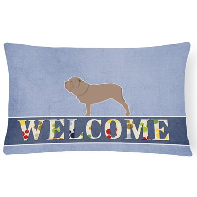 Ehrhardt Neapolitan Mastiff Welcome Lumbar Pillow