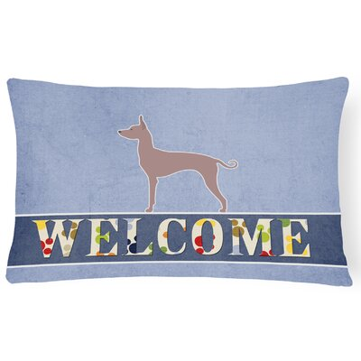 Lofton Dogo Argentino Welcome Lumbar Pillow