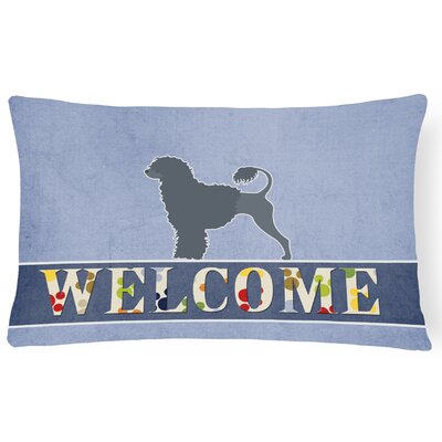 Lomax Portuguese Water Dog Welcome Lumbar Pillow