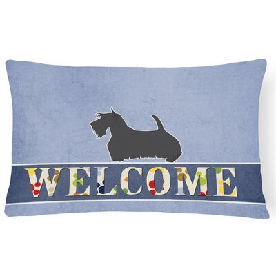 Longview Scottish Terrier Welcome Lumbar Pillow