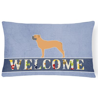 Orchard Lane Bullmastiff Welcome Lumbar Pillow