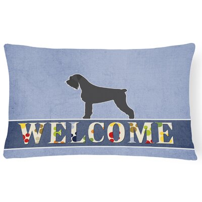 Osbourn Giant Schnauzer Welcome Lumbar Pillow