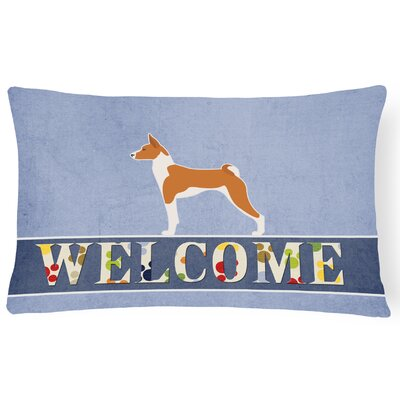 Osmond Basenji Welcome Lumbar Pillow