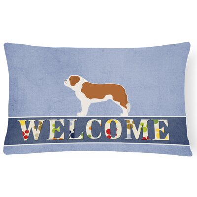 Crafton Saint Bernard Welcome Lumbar Pillow