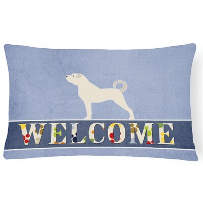 Dalmatia Anatolian Shepherd Welcome Lumbar Pillow