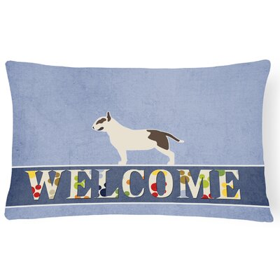 Dannemora Bull Terrier Welcome Lumbar Pillow