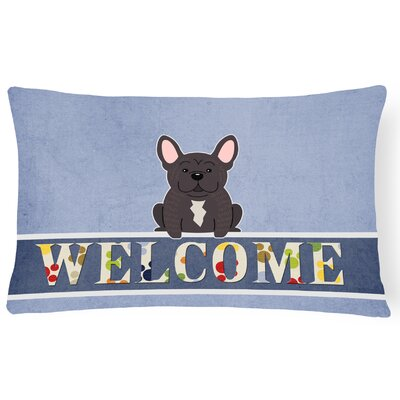 Davidsville French Bulldog Brindle Welcome Lumbar Pillow