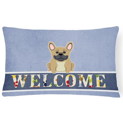 Harristown French Bulldog Welcome Lumbar Pillow