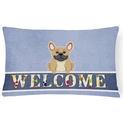 Harristown French Bulldog Welcome Lumbar Pillow