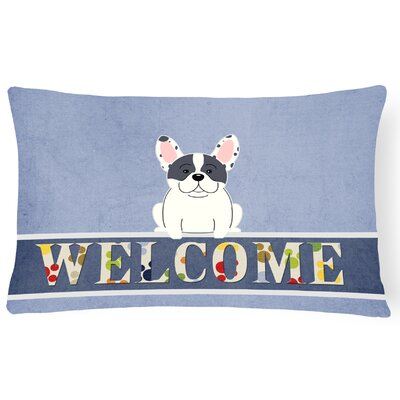 Harshaw French Bulldog Welcome Lumbar Pillow