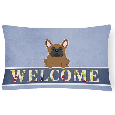 Easie French Bulldog Welcome Lumbar Pillow