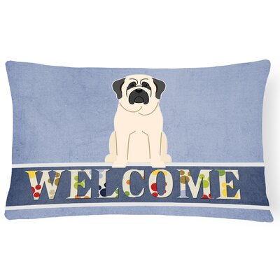 Hartmann Mastiff Welcome Lumbar Pillow Pillow Cover Color: White