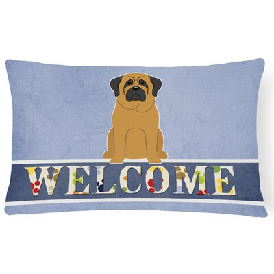 Hartmann Mastiff Welcome Lumbar Pillow Pillow Cover Color: Brown