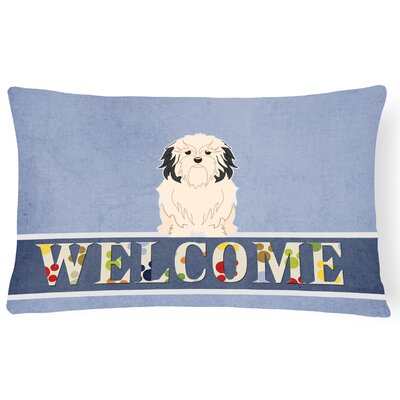 Hartsburg Lowchen Welcome Lumbar Pillow