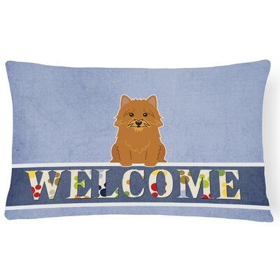 Harvard Norwich Terrier Welcome Lumbar Pillow