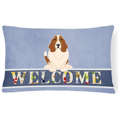 Harville Basset Hound Welcome Lumbar Pillow