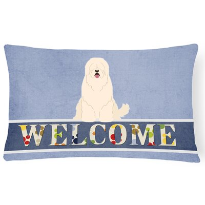 Haubrich South Russian Sheepdog Welcome Lumbar Pillow