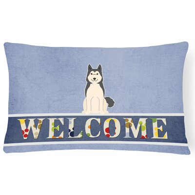 Haughton West Siberian Laika Spitz Welcome Lumbar Pillow