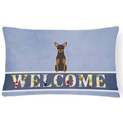 Haverhill Manchester Terrier Welcome Lumbar Pillow