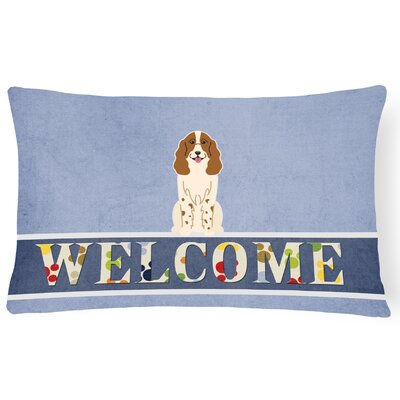 Hayton Russian Spaniel Welcome Lumbar Pillow