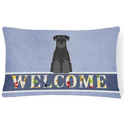 Hearne Standard Schnauzer Welcome Lumbar Pillow